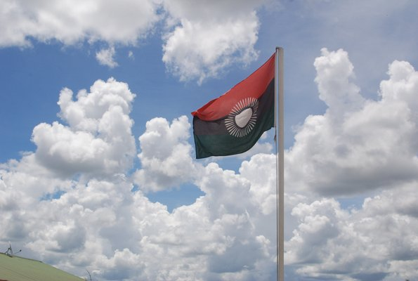 The shortly lived new flag of Malawi that Bingu introduced in 2011, Joyce Banda re-introduced the old flag